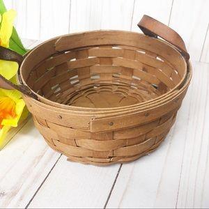 Vintage 1989 Longaberger Basket with Handles